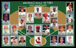1967 ST LOUIS CARDINALS Baseball Card Set POSTER Man Cave De
