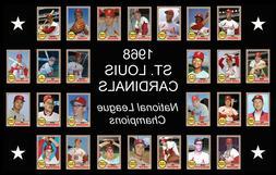 1968 ST LOUIS CARDINALS Custom Baseball Card POSTER Unique T