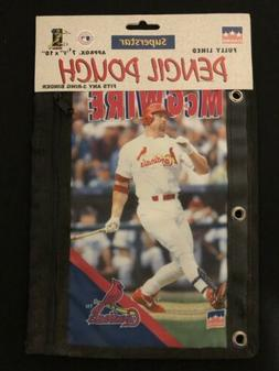 1999 Starline MARK MCGWIRE 3-Ring Pencil Pouch St. Louis Car