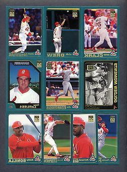 2001 Topps St. Louis Cardinals Baseball TEAM SET