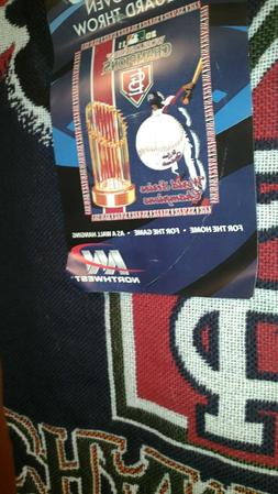"2011 MLB ST LOUIS CARDINALS World Series Sports Blanket 48"""