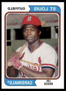 2020 Archives Base #173 Lou Brock - St. Louis Cardinals