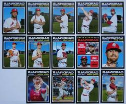 2020 Topps Heritage St. Louis Cardinals Base Team Set 14 Bas