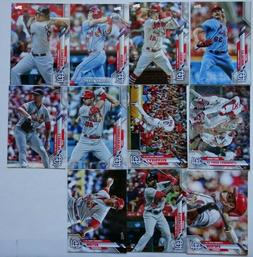 2020 Topps Series 1 St. Louis Cardinals Base Team Set of 11