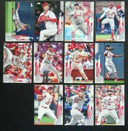 2020 Topps Series 2 St. Louis Cardinals Base Team Set of 11