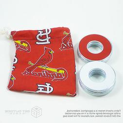 8 VVashers™ w/ St. Louis Cardinals Red Fabric Bag  Washer
