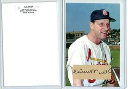 ACEO STAN MUSIAL,  4x6 PHOTO WITH CUT SIGNATURE REPLICA, ST.