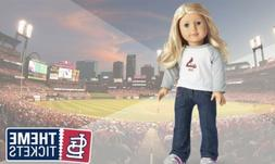 American Girl St Louis Cardinals Theme Ticket T-shirt. New 2