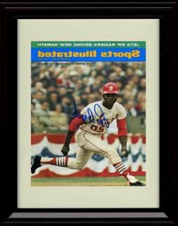 Framed Lou Brock - 1967 Sports Illustrated Cover - St Louis