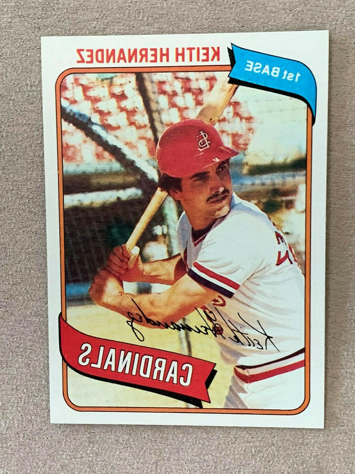1980 baseball card 321 keith hernandez st