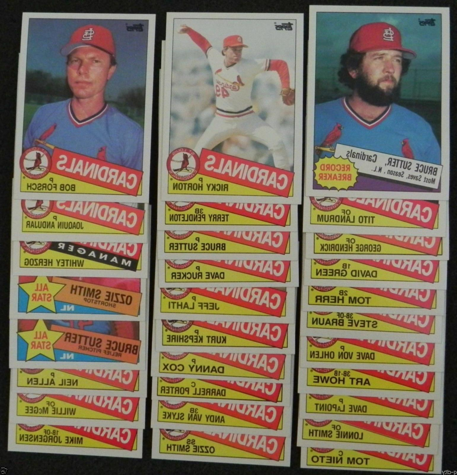 1985 topps st louis cardinals team set