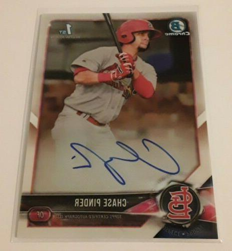 2018 bowman chrome prospects chase pinder auto