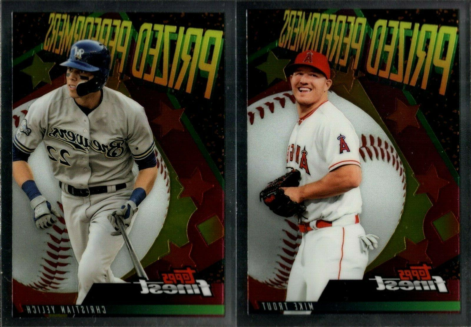 2019 topps finest prized performers insert set