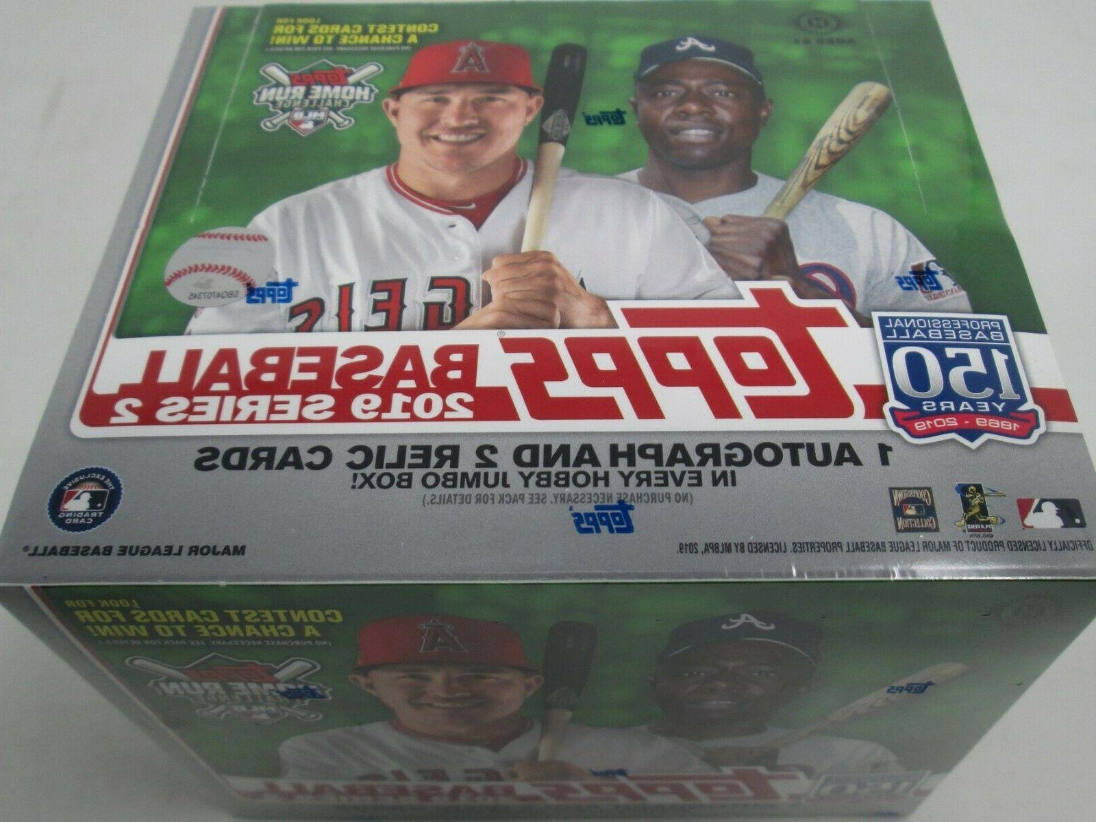 2019 topps series 2 jumbo box break
