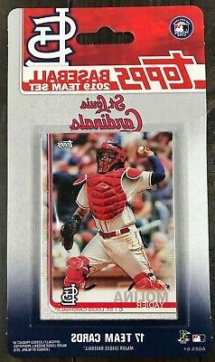 2019 Topps St. Louis Cardinals Baseball ~ 17-Card Factory Se