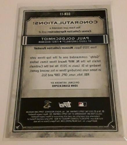 2020 Topps Museum Goldschmidt Collection St.