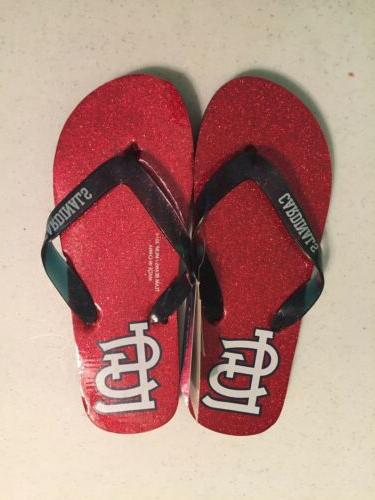 baseball st louis cardinals sandals flip flop