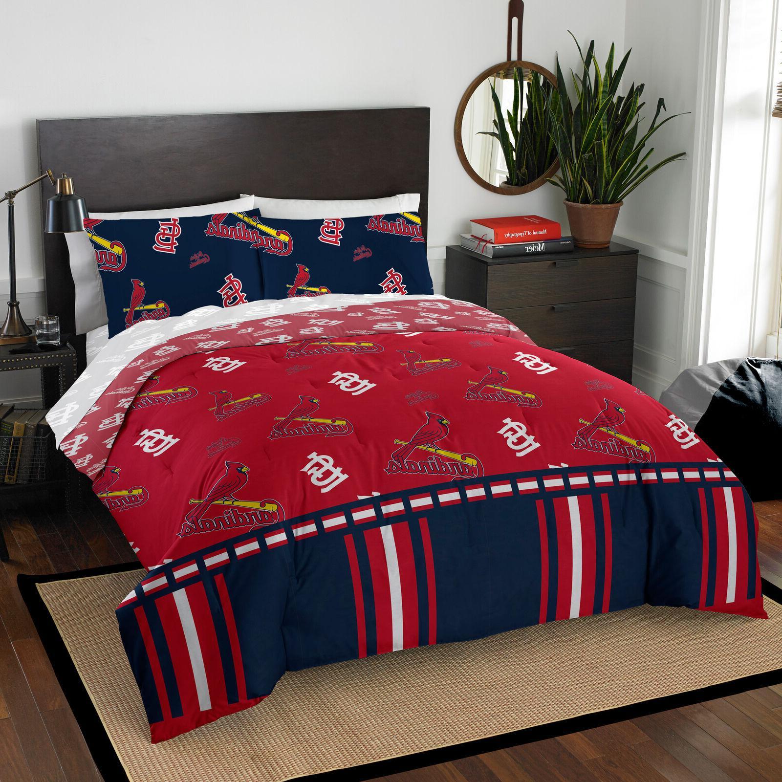 Comforter Cardinals Queen Bag Loago Dorm Bedroom