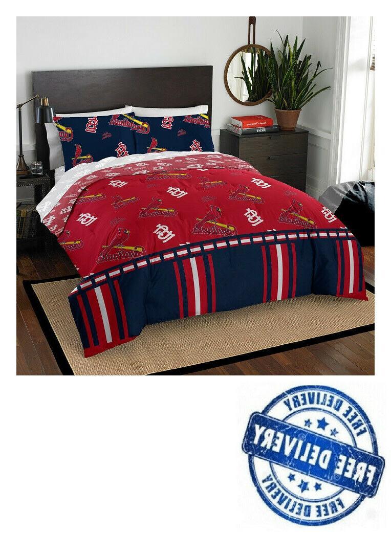 comforter set st louis cardinals queen bed