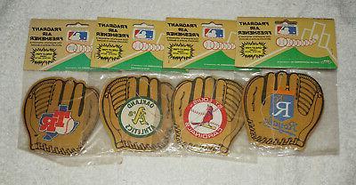 lot 4 vintage baseball air fresheners cardinals