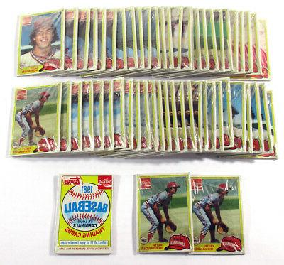 lot of 5 1981 topps coca cola