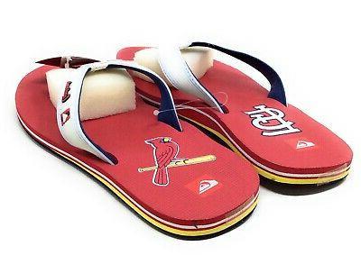 Quiksilver Mens St Cardinals MLB Flip Sandals White 11