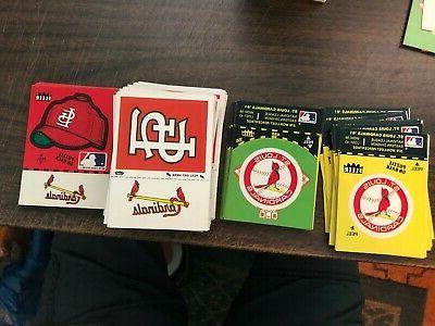 st louis cardinals 1982 fleer logo stickers