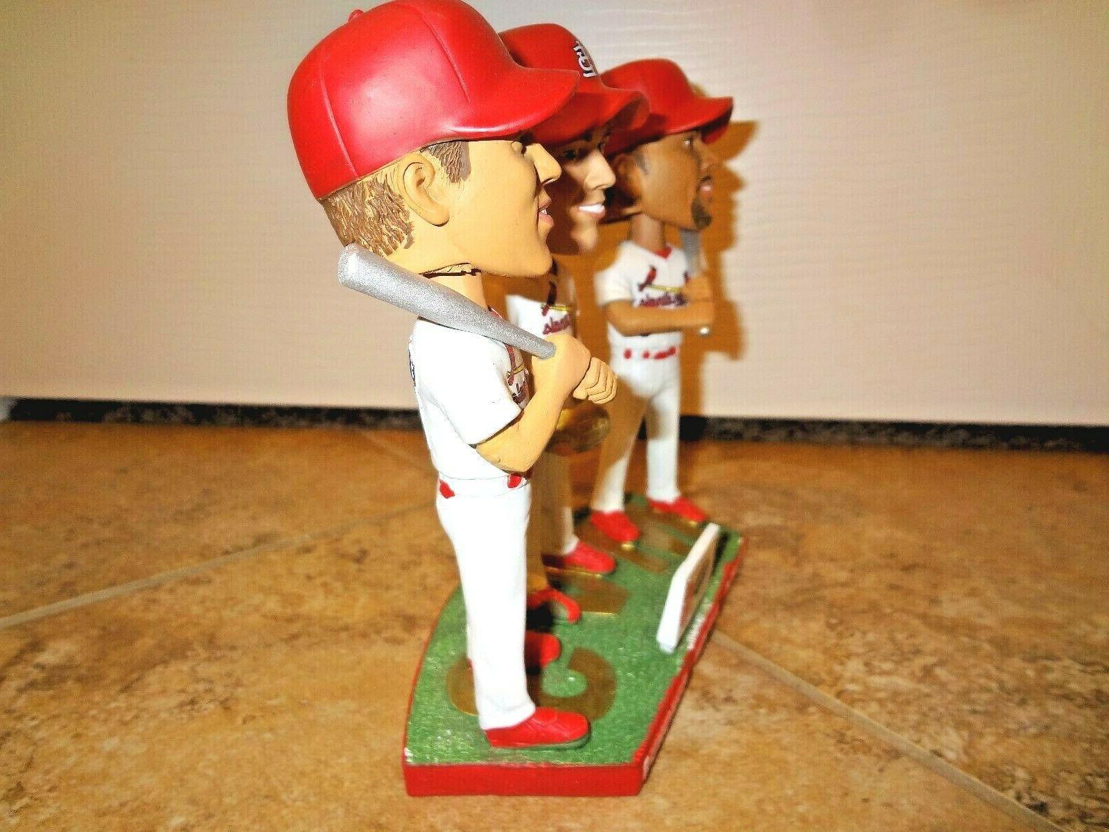 St Cardinals Triple Bobblehead Edmonds Rolen 7-28-19