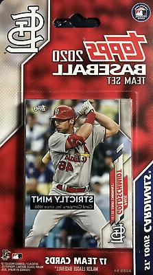 St Louis Cardinals 2020 Topps Factory Sealed Team Set Wainwr