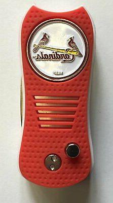 St. Louis Cardinals Baseball Golf Switchblade Divot Tool W/