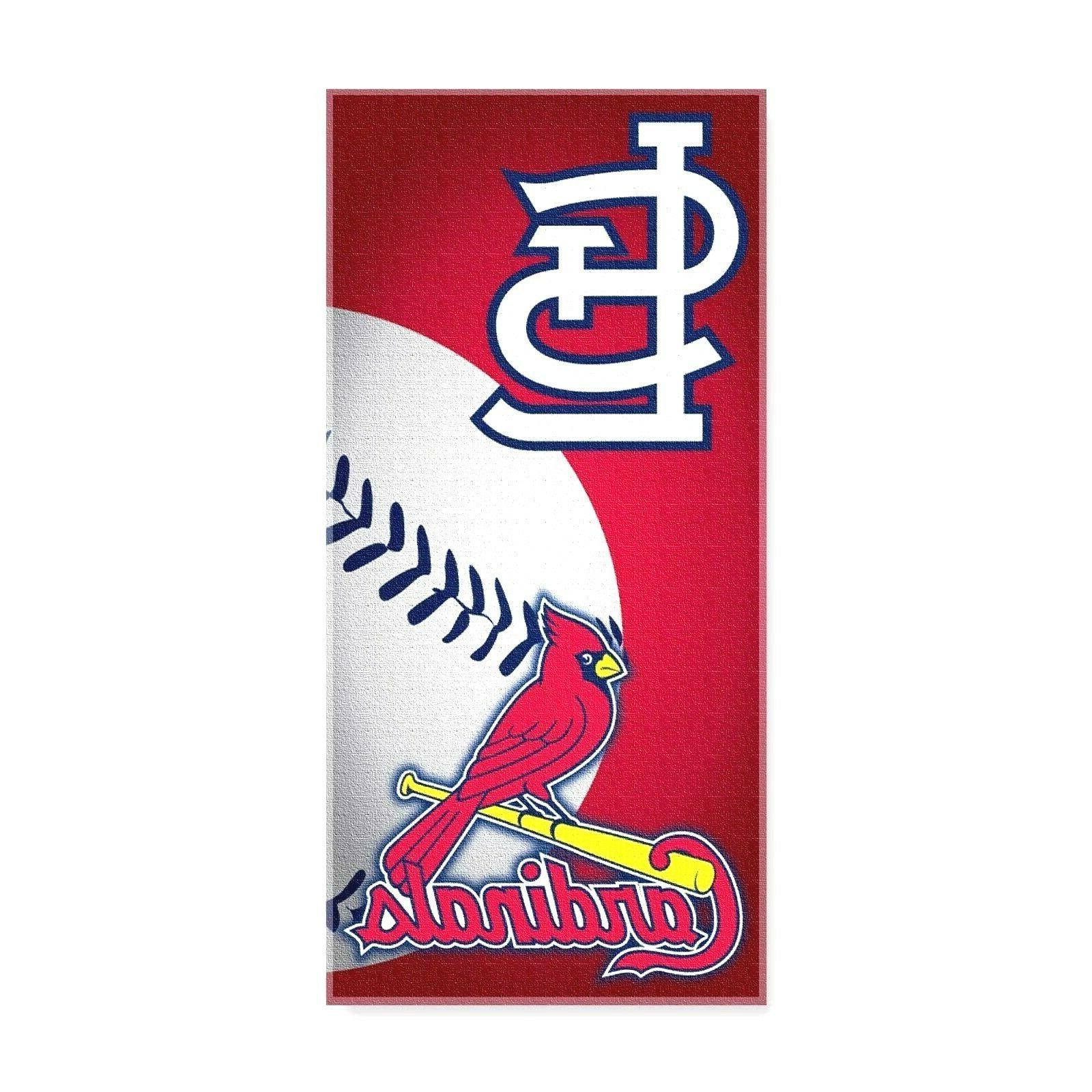 st louis cardinals beach towel dual logo