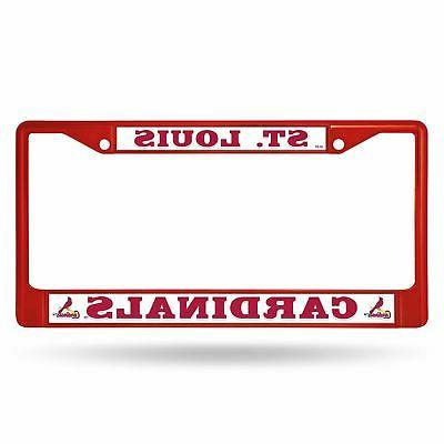 st louis cardinals chrome license plate frame