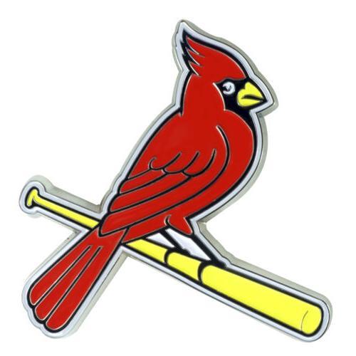 st louis cardinals color metal emblem 3