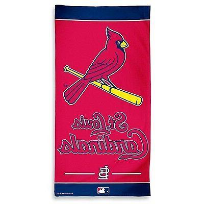 st louis cardinals fiber beach towel new