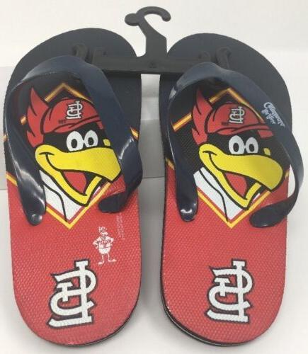 st louis cardinals flip flops kids size