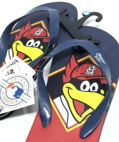 St Cardinals Flip Flops Kids Youth 3-4 Sandals Fredbird Beach