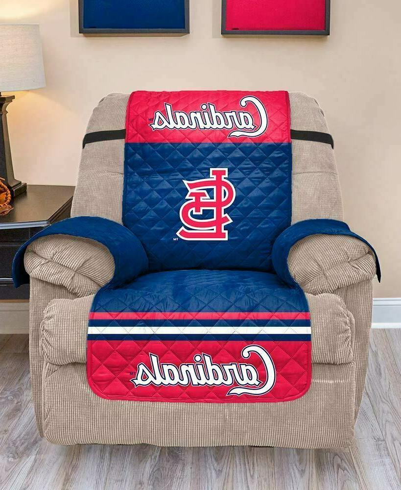 ST LOUIS CARDINALS FURNITURE PROTECTOR COVER RECLINER REVERS