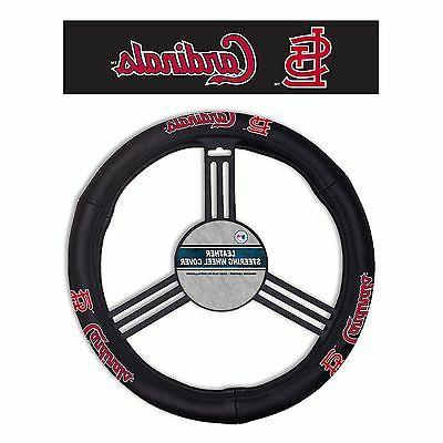 st louis cardinals leather steering wheel cover