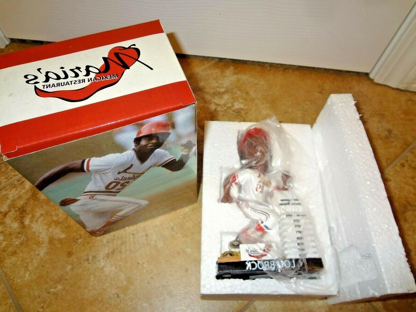 St Cardinals Brock Career Bobblehead 8-10-19