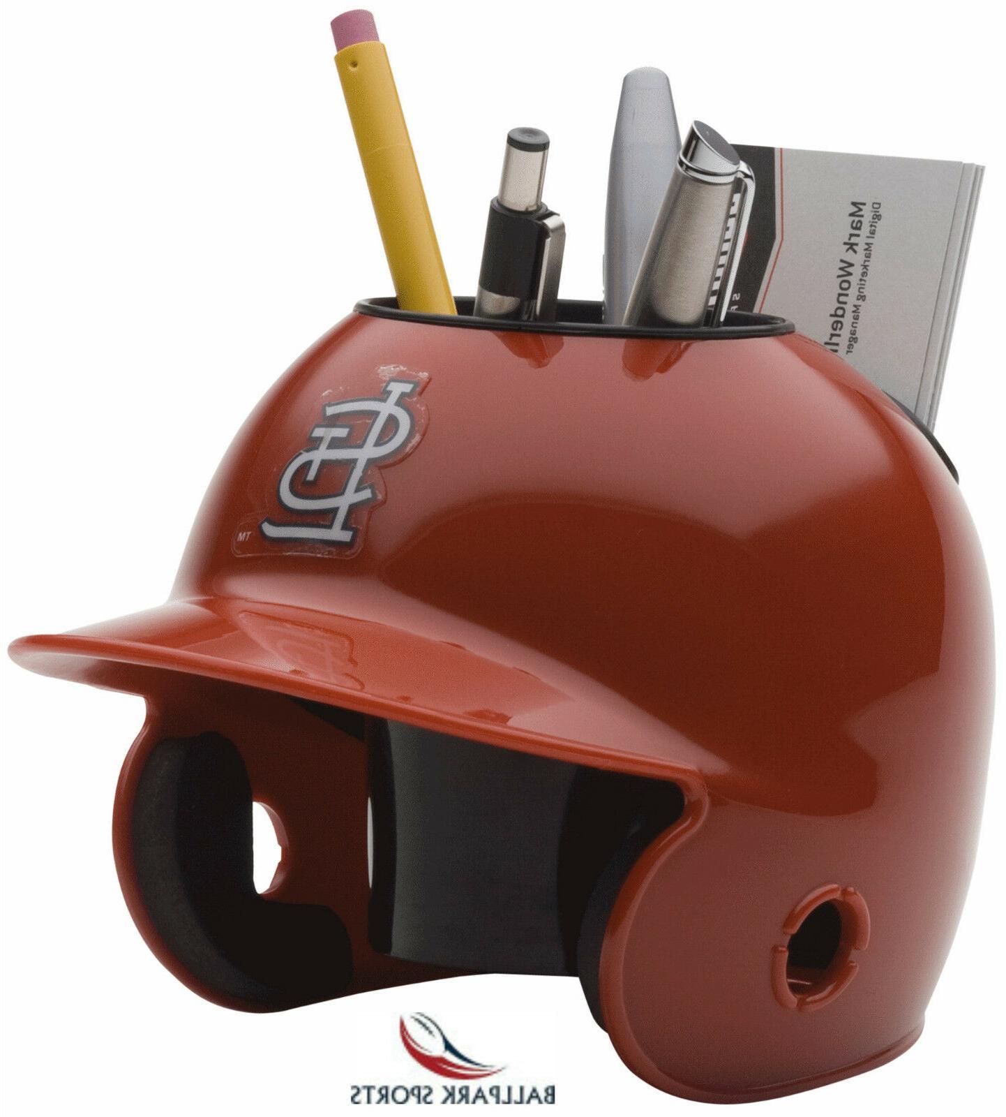 st louis cardinals mini batters helmet desk
