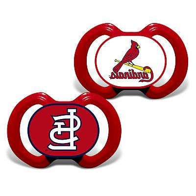 st louis cardinals pacifiers 2 pack set