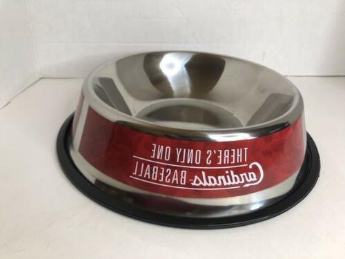 st louis cardinals pet dog bowl water