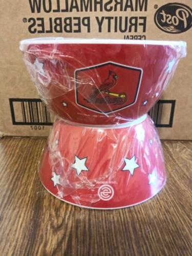 st louis cardinals plastic bowls set of