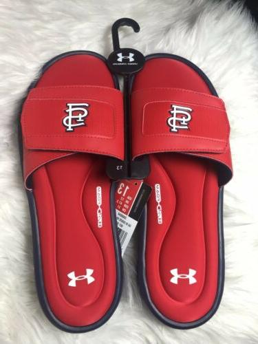 st louis cardinals slides sandals mens size