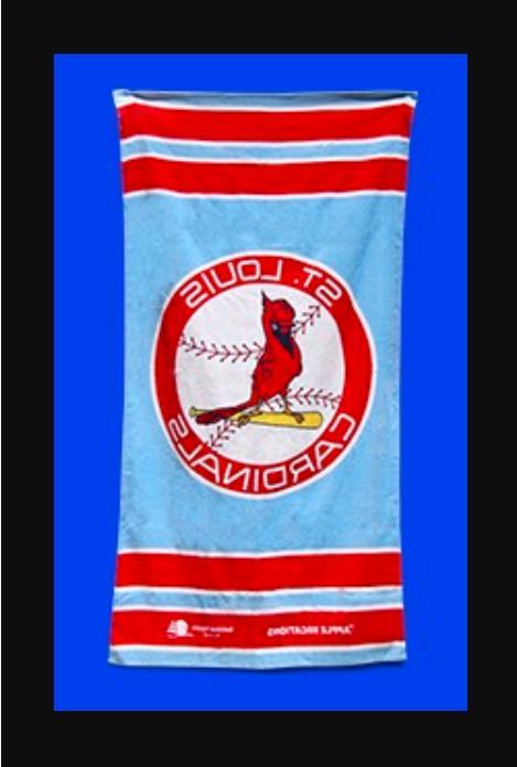 st louis cardinals stl cards beach towel