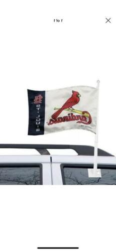 St Louis Cardinals Team Logo Car Flag