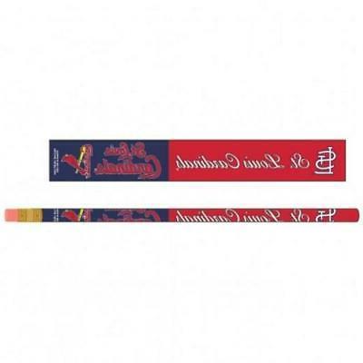 st louis cardinals wooden pencil 6 pack