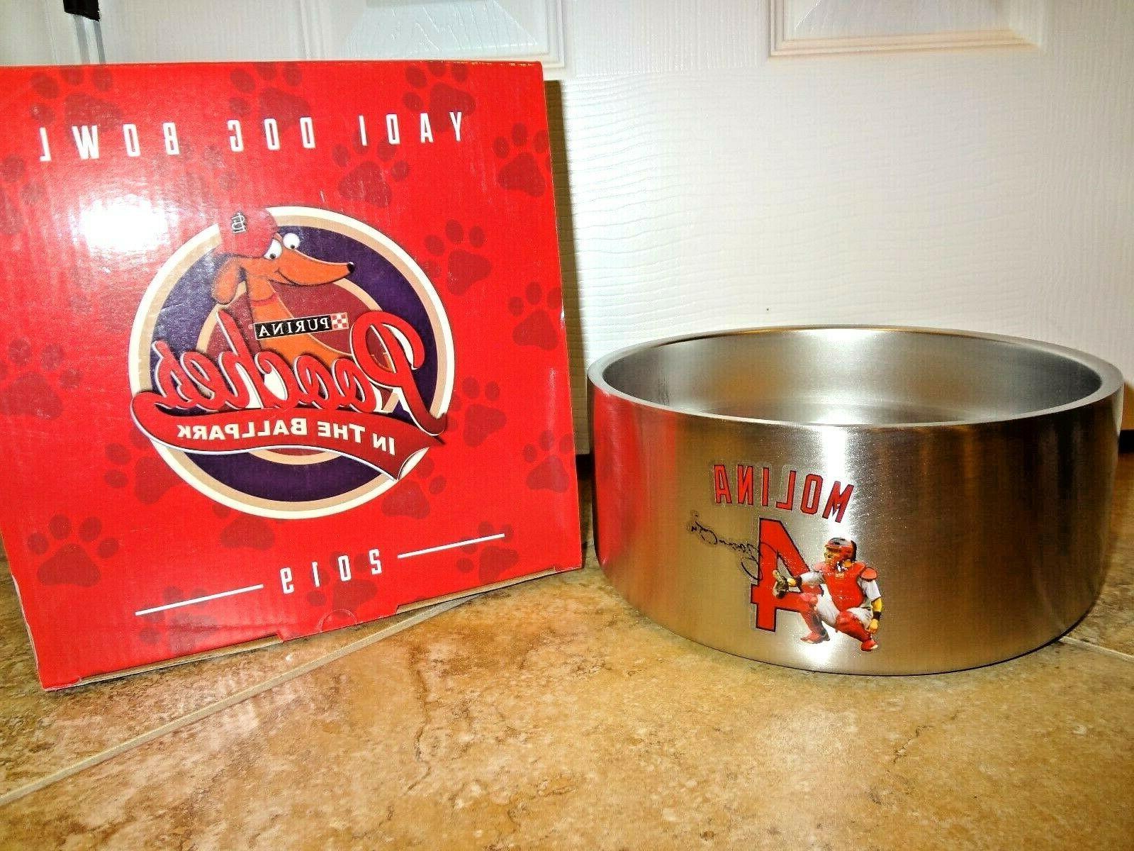 st louis cardinals yadier molina dog bowl