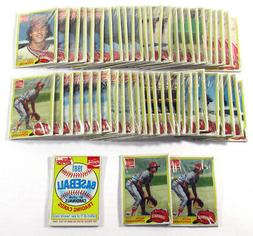 Lot of  1981 Topps Coca Cola St. Louis Cardinals Sets ^ 55 S