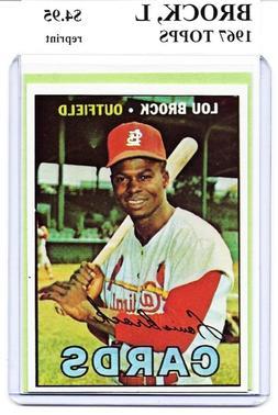 lou brock st louis cardinals 1967 topps